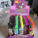 Brand new Ed Hardy tattoo lighters-Retail display box of 50 per lot